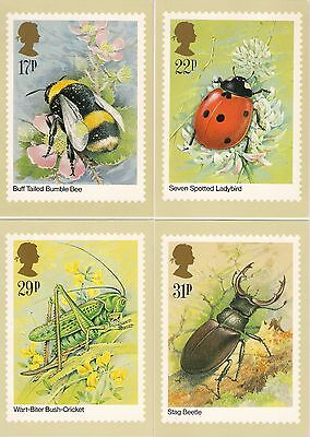 1985  **    A Full Set Of 5 Phq Postcards  **  Fdi Back  **   Insects  **