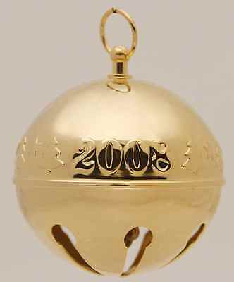 Wallace SLEIGH BELL-GOLDPLATED ORNAMENT 2008 Trees 6744660