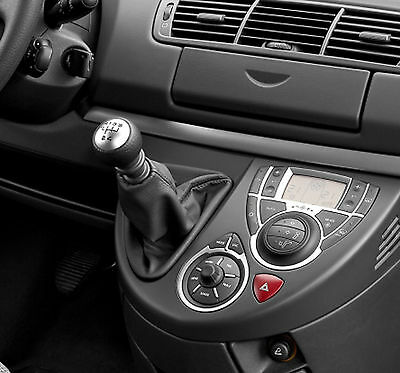 Leather Gear Shift Gaiter Cover Sleeve fit Peugeot 807 2002 ->