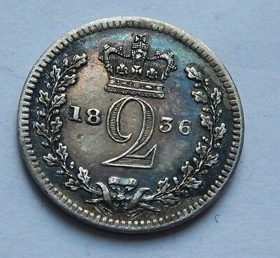 Maundy Twopence William IV 1836  .925 Silver