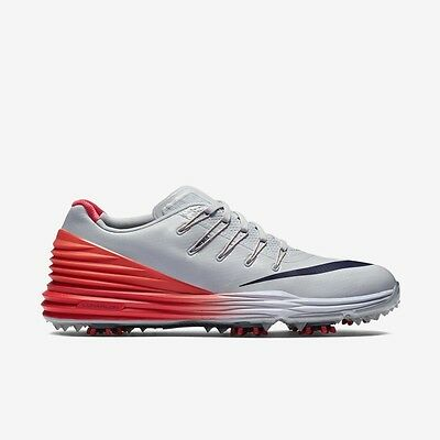 $170 NEW Nike Womens Lunar Control 4 Golf Shoes Size 7 Gray Crimson Navy Blue