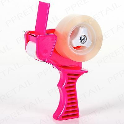SMALL PINK TAPE DISPENSER GUN  GIFT WRAPPING MADE EASY Christmas Present Tool