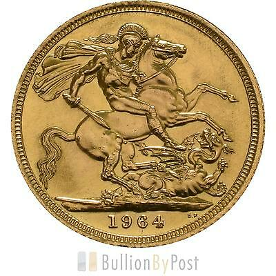 1964 Gold Full Sovereign - Elizabeth II Young Head
