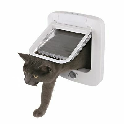 Trixie - Chatiere 4 positions - 23x26,5cm - Blanc - Pour chat NEUF