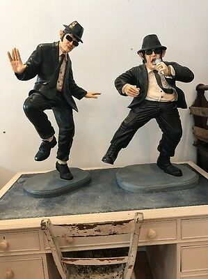 Very Large Blues Brothers Resin Figures Over 3ft Vintage Movie FREE UK P&P