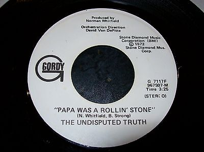 Undisputed Truth - Papa Was A Rolling Stone / Same  (Mono)