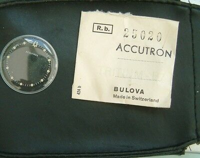 Bulova Accutron Spaceview Crystal Glass GENUINE guaranteed new old stock 25020