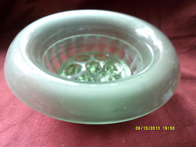 Davidson Green Glass Bowl With Frog