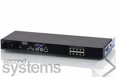 IBM 17351LX 8-Port KVM Switch / Server Mount Management - 31R3134 @@