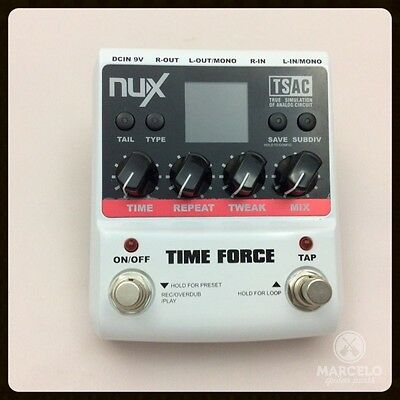 NUX TIME FORCE Multi Digital Delay Guitar Effect Pedal 11 Delay Effects