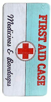 Extra Large Metal First Aid Tin Storage Box 32x15x8cm ~ Medicines & Bandages