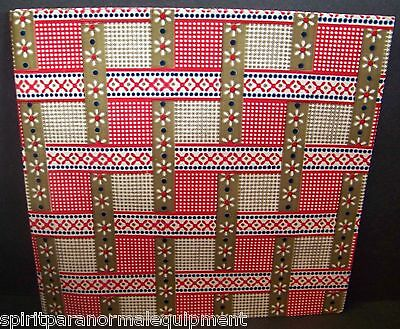 Vintage Gift Wrap Red Tan Checked Wrapping Paper