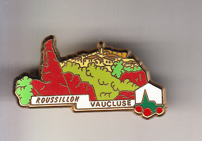 Rare Pins Pin's .. Tourisme Village De France Lb Creation Roussillon 84 ~Cg