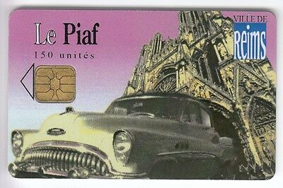 Piaf Parking Carte / Card .. 150U Reims 51 Auto Car Cadillac 3.100Ex 06/07 Puce