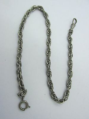 """Antique Fancy Double Link Chunky 13.75"""" Pocket Watch Chain .55 of an ounce."""