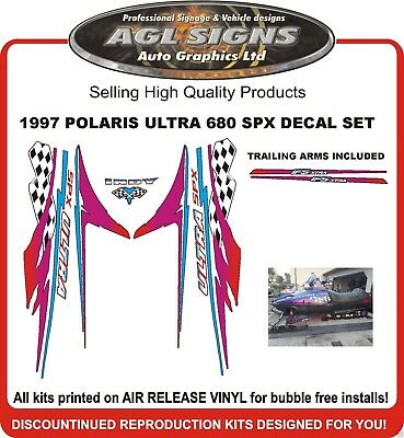 1997 POLARIS ULTRA 680 SPX   INDY HOOD DECALS graphics reproductions