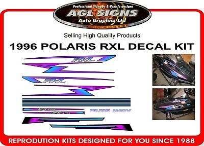 1996 Polaris Rxl Hood Decal Kit , Graphic Sticker Indy