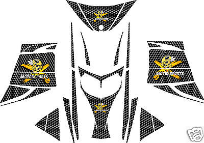 BLACK HONEYCOMB SLED WRAP for SKI-DOO rev, mxz, 2003-07 decal