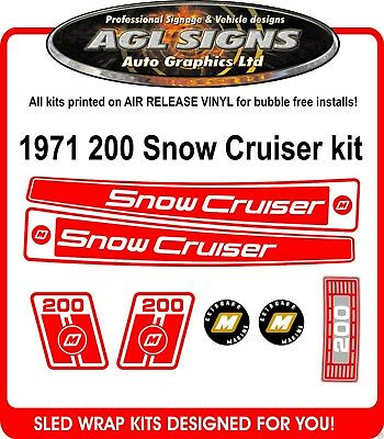 1971 Snow Cruiser 200 Decal kit ,  reproductions graphics