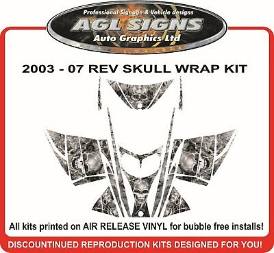 SKULL SLED WRAP  for SKI-DOO REV 03-07  mxz decal graphic