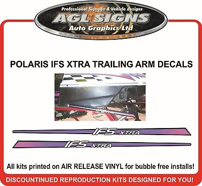 1996 POLARIS INDY XCR 600 TRAILING ARM IFS XTRA DECALS , graphics reproduction