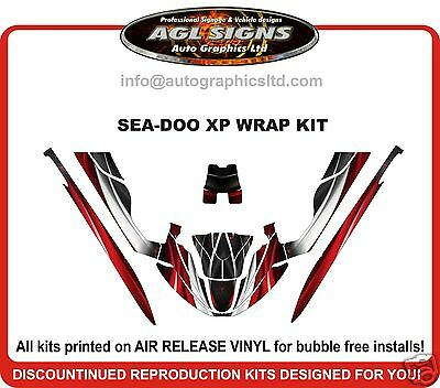 SEA-DOO XP 1994 1995 1996  JET SKI WRAP KIT  red racing graphics decal