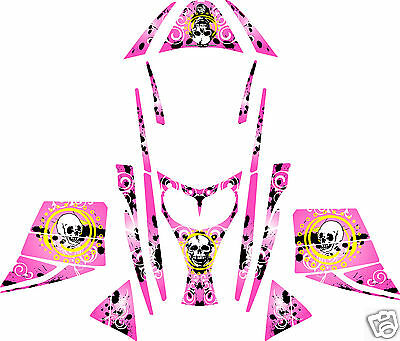 PINK GRUNGE SLED WRAP for SKI-DOO rev, mxz, renegade, summit,  03-07 decal