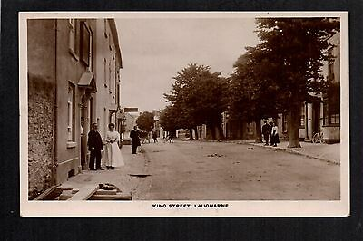 Laugharne - King Street - real photographic postcard