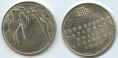 GY737 - Silbermedaille Lausanne 1964 Schweiz Exposition Nationale Suisse Silber