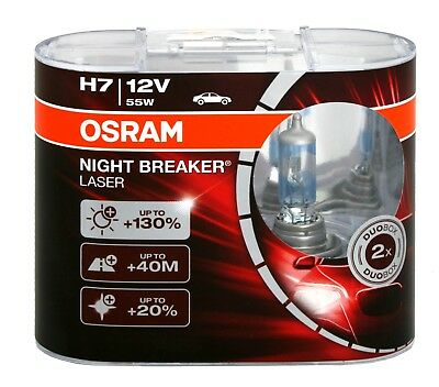 !+NEU+! OSRAM NIGHT BREAKER LASER H7 +130% DUO BOX 64210 PX26d