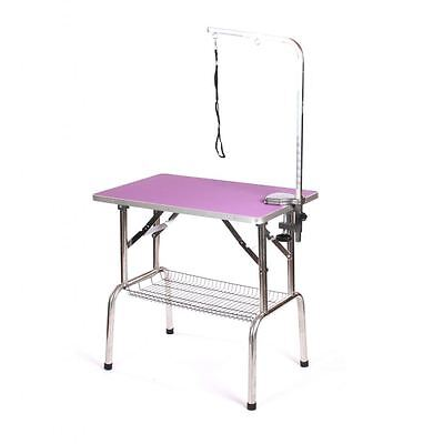 Pedigroom stainless steel dog pet cat grooming show portable mobile table arm pu