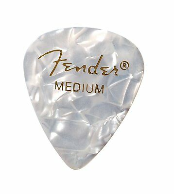 Fender 351 Premium Celluloid Guitar Picks, WHITE MOTO, MEDIUM 144-Pack (1 Gross)
