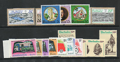 Barbados Five 1970's Sets  Um/mnh See Scan