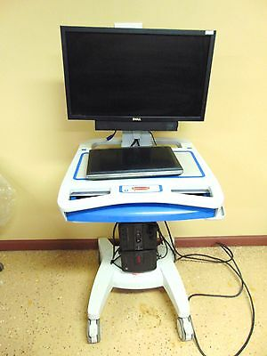 Rubbermaid Medical Solutions Mobile Medical Cart 1854485 With Dell Laptop ~MR157