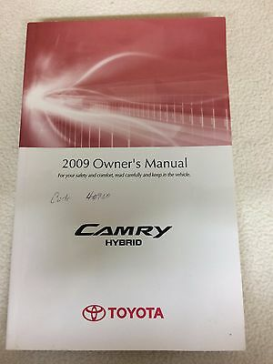 2010 toyota camry hybrid owners manual guide 10 35 99 picclick rh picclick com 2009 Camry Hybrid Service Manual 2009 Camry Hybrid Oil
