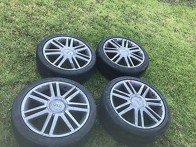 "GENUINE AUDI S3 18"" 5x112 ALLOY WHEELS WITH TYRES"