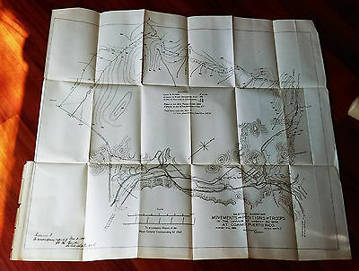 1898 Map of Movemt and Position of Troops Coamo Puerto Rico Spanish American War
