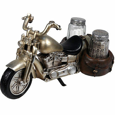 River's Edge Motorcycle Salt And Pepper Set