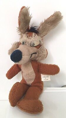 """Vintage 1971 Retro Wile E Wiley Coyote Plush Tv Character Toy Warner Bros 17.5"""""""