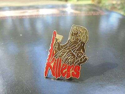 Vintage NOS Iron Maiden Killers Enameled Metal Pin