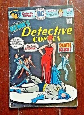 Batman Detective Comics #456, (1976, DC): Death-Kiss!