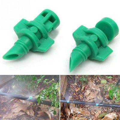 10/50pc Micro Garden Lawn Water Spray Misting Nozzle Sprinkler Irrigation System