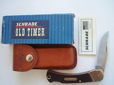 Usa Made Schrade 6Ot Golden Bear Old Timer Folding Lockback Knife