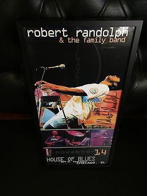 Robert Randolph 11-14-2003 House of Blues Autographed / Signed Framed Poster!