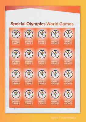 2015 Special Olympics World Games Pane of 20