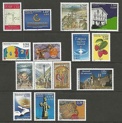 Andorra - French Andorra 2000-03 / Mint Stamps. MNH. SG# Approx.C.Value: £44.50