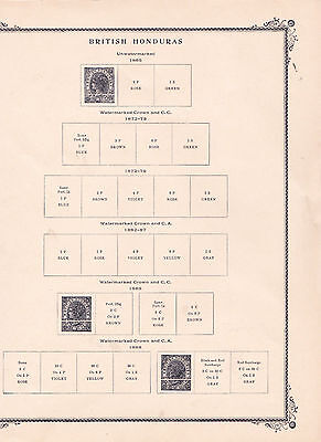 BRITISH HONDURAS - BELIZE - SCOTT PAGES and STAMP COLLECTION to 1994 - LOOK!
