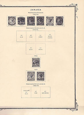 JAMAICA - BRITISH COLONIES - SCOTT PAGES and STAMP COLLETION to 1995 - LOOK!