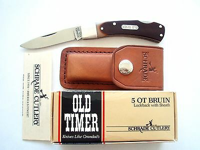 Original Schrade Usa Made 50T Bruin Old Timer Lockback  Knife