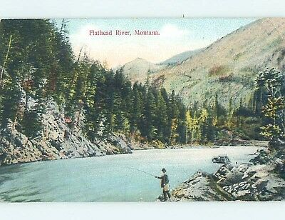 Divided-Back WATER SCENE Flathead Lake - Polson & Bigfork & Kalispell MT hk3369